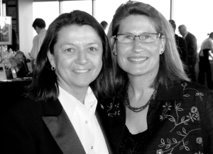 Gail Mancarti and Jessica Palmer