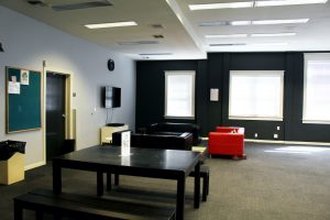 Picture of community resources room at the Sac LGBT Center