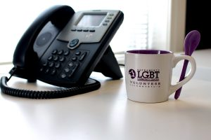 Picture of a telephone and volunteer tea cup